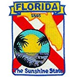 USA Novelty Embroidered Iron on Patch - 50 United States Historical Collection - 1845 Florida The Sunshine State Applique at Amazon.com