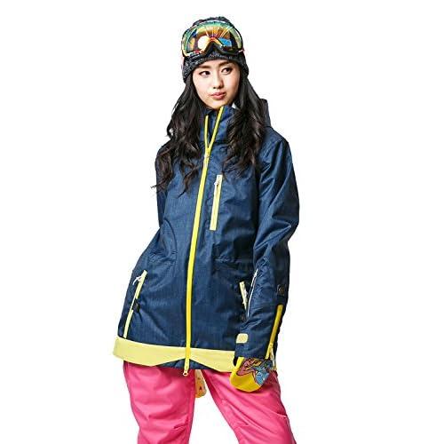 16'新作 43DEGREES スノーボードウェア スキーウェア スノボウェア レディース上下セット 75. Denim like B × Pink Lサイズ