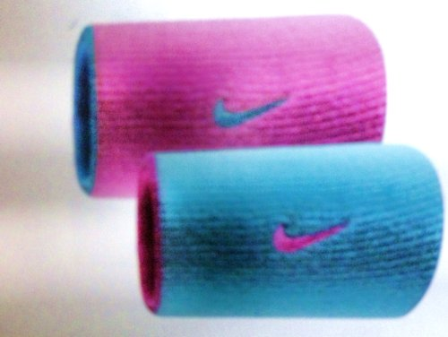 NIKE Dri-Fit Double Wide Wristbands nike топ dri fit ctn aop nike tank
