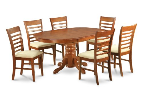 Groovy Compare Prices Avon 7Pc Oval Dinette Dining Table And 6 Unemploymentrelief Wooden Chair Designs For Living Room Unemploymentrelieforg