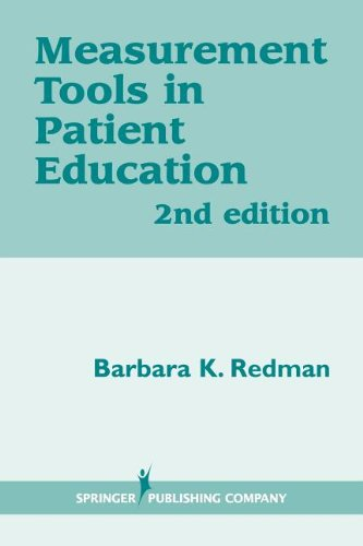 Measurement Tools In Patient Education, Second Edition front-495661