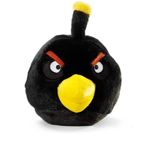 ANGRY BIRDS - plush toy black bird -(schwarzer Vogel) 20 cm