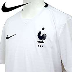 NIKE(ナイキ) サッカー 海外クラブ ナショナルチーム DRI-FIT FFF S/S アウェイ スタジアム ジャージ メンズ FOOTBALL WHITE/GYM RED 640851-105 WHT/RED