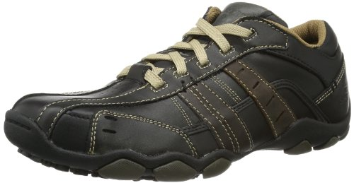 Skechers Men's Diameter-Vassell Lace-Up Flats Brown Noir(Marron foncé) 10 (44 EU)