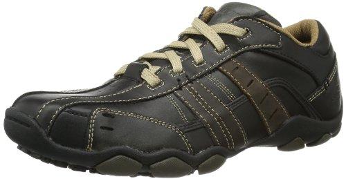 Skechers Men's Diameter-Vassell Lace-Up Flats Brown Noir(Marron foncé) 6 (40 EU)