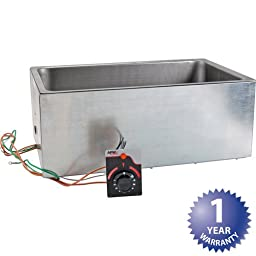 APW Wyott UR Listed Bottom Mount Insulated Hot Food Well with Drain, 8 5/16 x 13 13/16 x 21 3/4 inch -- 1 each.