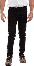 SagarPriya Men's Slim Fit Jeans (SP0003, Black, 30)