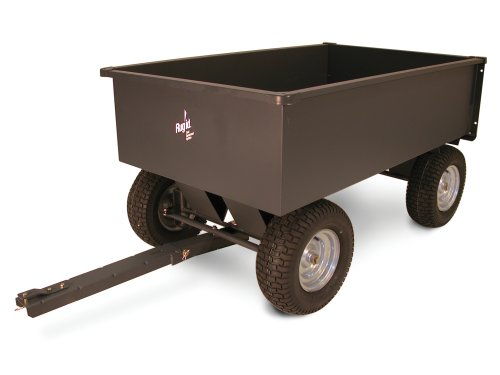 Precision Products 17-Cubic Foot Front-Wheel Steering Trailer Cart LC1900GY