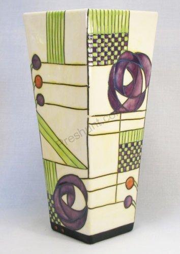 Lilac Rene Rose Mac. Square Vase