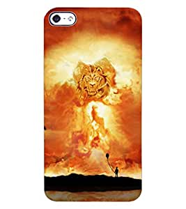 ColourCraft Lion Look Design Back Case Cover for APPLE IPHONE 4S