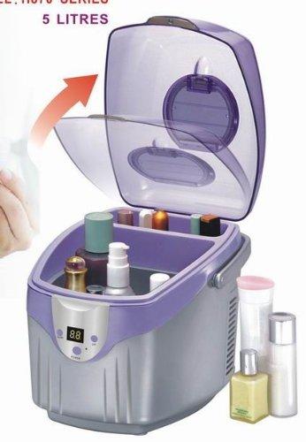 Uzo1 Cosmetic & Medication Refrigerator Cooler & Warmer With Mirror & Temperature Control Panel