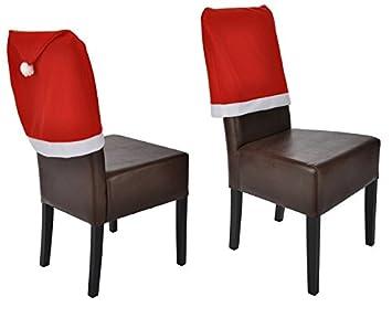 viva haushaltswaren 4er set weihnachts stuhlhussen hussen als weihnachtsm tze gesamtma ca. Black Bedroom Furniture Sets. Home Design Ideas