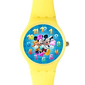 Watchize Mickey Mouse Watch Custom Time Keeper Wrist Watch Yellow