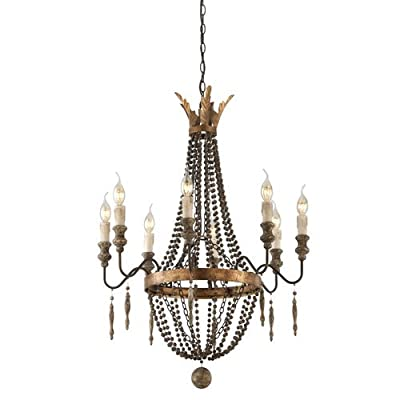 Troy Lighting F3535 Delacroix 8 Light Candle-Style Chandelier,