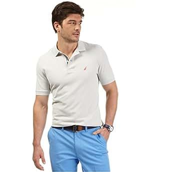 Nautica Men's Short-Sleeve Deck Polo Shirt (Small, Grey Pebble)