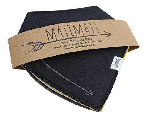 Matimati Baby Bandana Drool Bibs With Snaps For Boys & Girls – Super Absorbent, Soft, & Modern Pack of 4 (Solid Arrow Unisex)