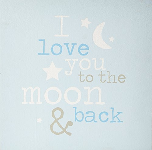 Mud Pie Plaque, Moon and Back, Blue