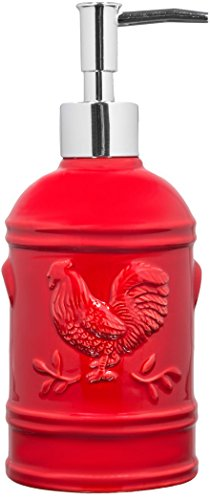 red-ceramic-rooster-soap-dispenser-lotion-dispenser-for-kitchen-or-bathroom-countertops-in-red