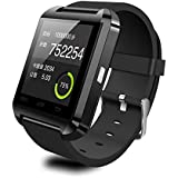 VKTECH® Montre Bluetooth 3.0version Support Passomètre/photographie/baromètre/Vibration/Mètre d'altitude Pour iPhone 4, 4S, 5, 5S, Sumsung S3, S4, Note 2, Note 3, Note 4 etc (Noir)