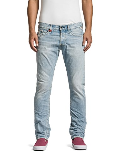 Replay Herren Straight Leg Jeans Waitom, Gr. W34/L34 (Herstellergröße: 34), Blau (Blue Denim 10) thumbnail