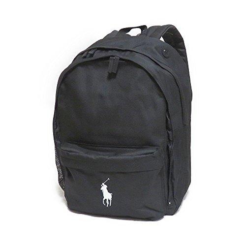 Polo Ralph Lauren(ポロ・ラルフローレン) Large Big Pony Bagpack (ポロブラック×ホワイト) ラージ ビックポニー リュック・バックパック [並行輸入品]
