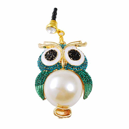 Mavis's Diary Dust Plug-earphone Jack Accessories Cute Animals Design with Flexible Head/ Cell Charms / Dust Plug / Ear Jack for Iphone 4 4S 5 5S / Ipad / Ipod Touch / Samsung Galaxy/ Samsung Note Series Other 3.5mm Ear Jack (Blue Pearl Owl) (Blue Dust Plug compare prices)
