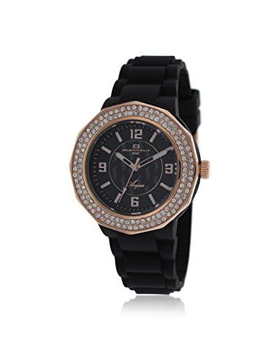Oceanaut Women's OC0222 Acqua Black Rubber Watch