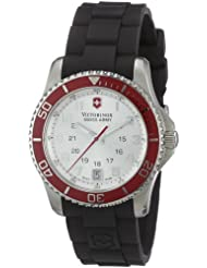 Victorinox Swiss Army Women's 241484 Maverick Silver Dial Black Rubber Strap Watch