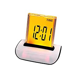 Denshine® 7 LED Color Changing Digital LCD Thermometer Calendar Alarm Clock