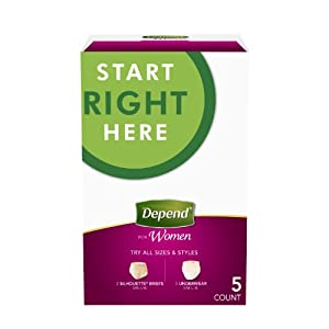 Depend Maximum Absorbency Underwear for Women, Variety Pack, 5 Count from Depend