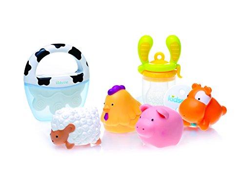 Kidsme Welcome Baby Gift Set, Blue/Orange, 24 Count - 1