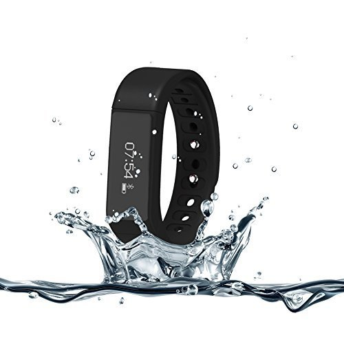 007plus T5 Plus Smart Wristband Bracelet Bluetooth 4.0 with Sleep Tracker Health Fitness for Android IOS iPhone Samsung Intelligent Sports Watch Step Sleep Track Caller ID display-Black