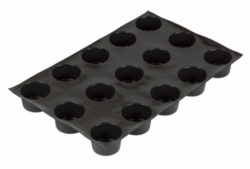 Sasa Demarle Fp 01601 Flexipan 6.5-Ounce Muffin Pan With 15 Molds, Jumbo