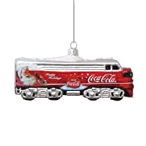 Kurt Adler 5-Inch Glass Coca-Cola Train Ornament