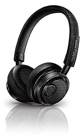 Philips Fidelio M2BTBK/00 Casque Hi-Res Haut de gamme supra auriculaire Bluetooth NFC USB avec microphone et bouton de prise d'appel intégré  Noir
