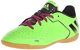 adidas Performance Ace 16.3 CT J Soccer Shoe (Toddler/Little Kid/Big Kid), Green/Black/Shock Pink, 3 M US Little Kid