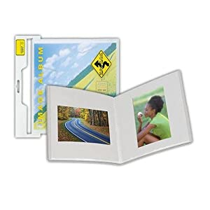 "Itoya ZigZag Frost Image, Bound Photo Album for 12x12"" Landscape / Horizontal Pages, Holds 24 Images, Frosted Cover"