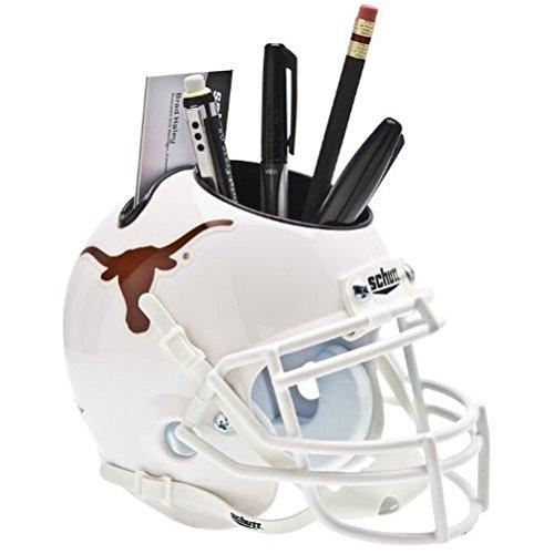 TEXAS LONGHORNS NCAA Schutt MINI Football Helmet OFFICE PEN/PENCIL/BUSINESS CARD HOLDER (Office Football compare prices)