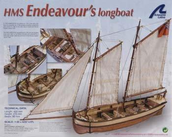 Latina 1/50 Endeavour's Longboat LAT19015