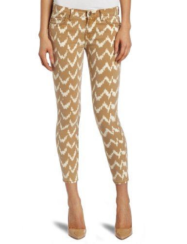 7 For All Mankind Women's Ikat Cropped Skinny Jean, Toffee, 27