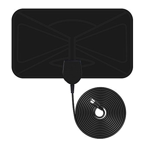 Antenne Numérique HDTV VicTsing Antenne TNT Intérieure Amplifiée Super Mince 25 Miles Plage avec 10ft Câble Coaxial de Haute Performance