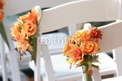 Wallmonkeys Peel and Stick Wall Decals - Orange Rose Bouquet - 48