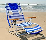 Ostrich 3N1a 2009 Beach Chair - Blue/ White Stripe