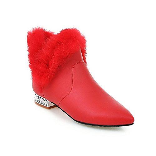 balamasa-girls-chunky-heels-fur-collar-mule-red-imitated-leather-boots-25-uk