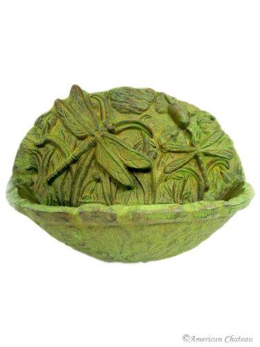Image of Cast Iron Dragonfly Bird Bath Feeder / Garden Decor (B002FJ8F5Q)