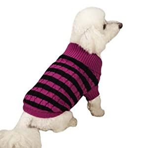 Zack & Zoey Heritage Collection Pet Sweater, X-Small, Pink