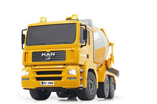 Jamara-405005-Betonmischer-Man-Fahrzeug-120-24-GHz-gelb