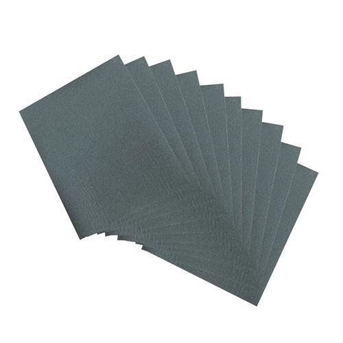 10 fogli di carta abrasiva Wet & Dry, grana 320, per metallo