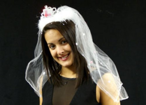 Flashing Hen Party Tiara and Veil