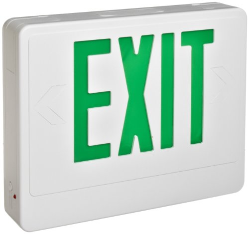 Morris Products 73024 LED Exit Sign, Remote Capable Type, Green LED Color, White Housing